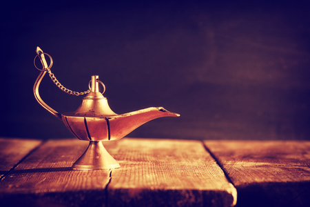 Photo for Image of magical lamp. Lamp of wishes - Royalty Free Image