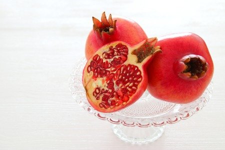 Photo pour Rosh hashanah (jewish New Year holiday) concept. Pomegranate raditional symbol - image libre de droit