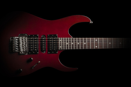 Photo for electric guitar on black background - Royalty Free Image