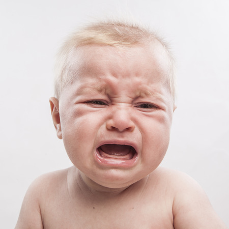Photo for portrait of a cute newborn baby crying - Royalty Free Image