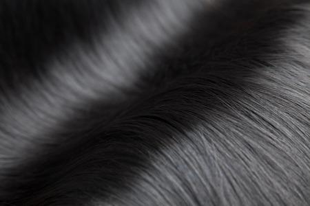 Photo pour Closeup on luxurious straight and glossy black hair - image libre de droit