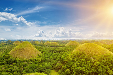 Photo pour Beautiful scenery of Chocolate Hills in Bohol, Philippines - image libre de droit