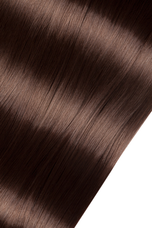 Photo pour Closeup on luxurious straight glossy hair - image libre de droit