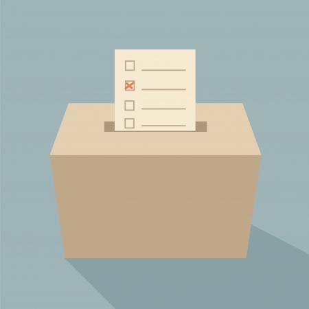 Illustration pour ballot box vote,vector - image libre de droit