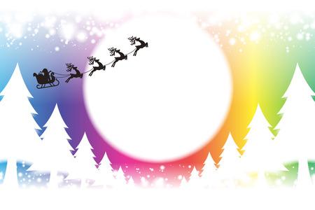Ilustración de Background material wallpaper, Merry Christmas, cards, trees, decorations, decorating, decorations, lights, snow, night scene, glitter - Imagen libre de derechos