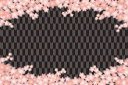 Material background wallpapers, cherry blossom, spring, enrollment, graduation, postcards, postcard templates, New Year's day, Japanese-style. Quinceanera, fletching, suiginto pattern.