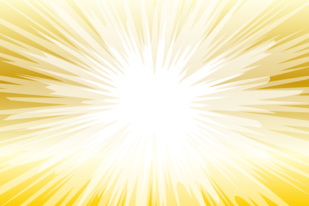 Illustration for Gold and white seamless background with light rays. Vector illustration. - Royalty Free Image