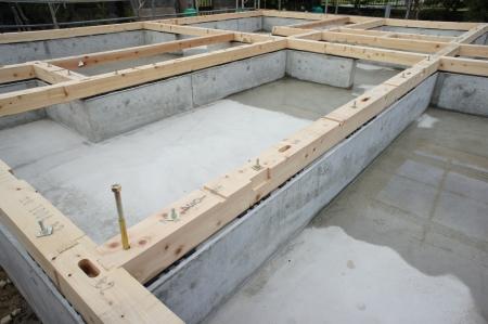 Photo pour the foundation of a new house - image libre de droit