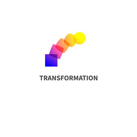 Illustration pour Logo change, transformation. - image libre de droit