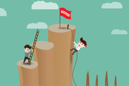 Illustration pour Shortcut - Risk path to success, template - image libre de droit