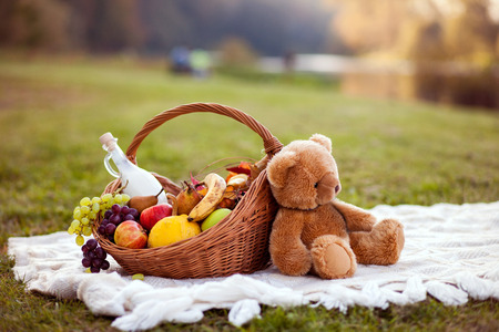 Photo for Basket for picnic - Royalty Free Image