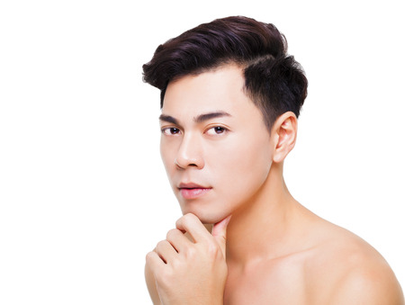 Photo for closeup charming young man face - Royalty Free Image