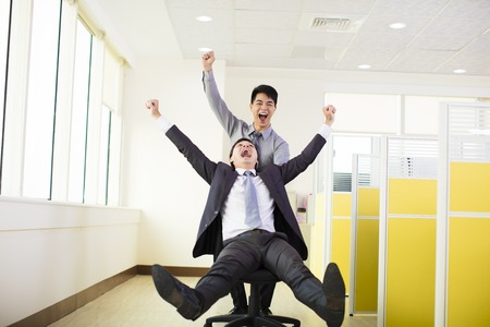 Photo for happy business people having fun in office - Royalty Free Image
