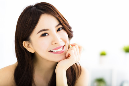 Photo for portrait of attractive young smiling woman - Royalty Free Image