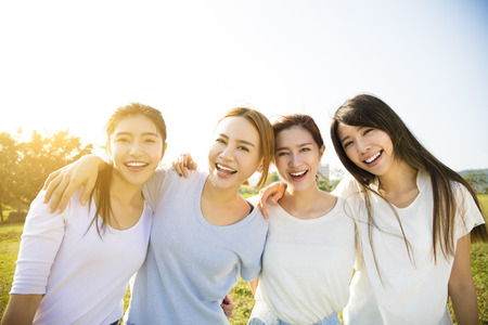 Photo for Group of young beautiful women smiling - Royalty Free Image
