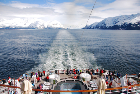 Photo for Alaska view from the passenger cruise ship on vacation - Royalty Free Image