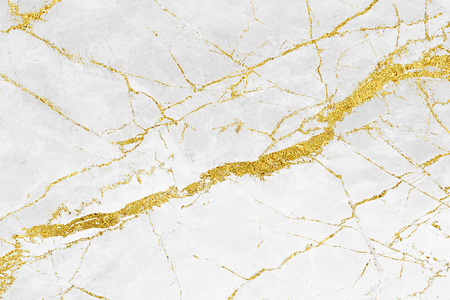 Photo for White gold marble texture pattern background with high resolution design for cover book or brochure, poster, wallpaper background or realistic business - Royalty Free Image