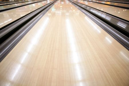 Bowling street wooden floor perspective cream color