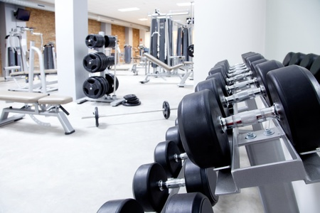 Photo for Fitness club weight training equipment gym modern interior - Royalty Free Image