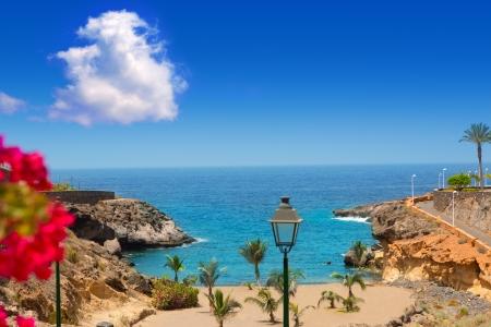 Foto de Beach Playa Paraiso costa Adeje in Tenerife at Canary Islands - Imagen libre de derechos