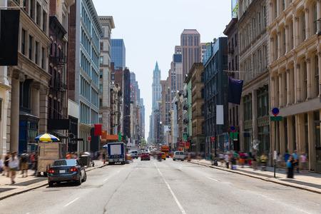 Foto de Soho buildings facade in Manhattan New York City NYC USA - Imagen libre de derechos