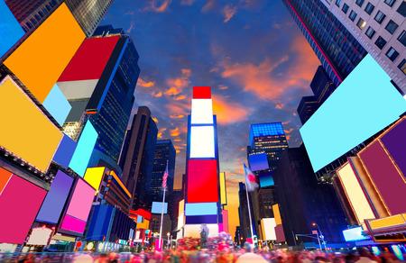 Photo pour Times Square Manhattan New York all the ads deleted US - image libre de droit