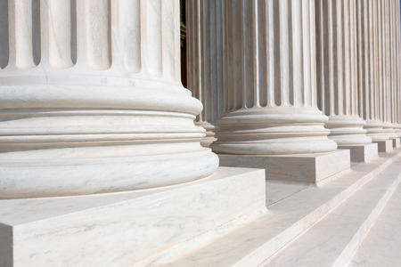 Photo for Supreme Court of United states columns row in Washington DC - Royalty Free Image