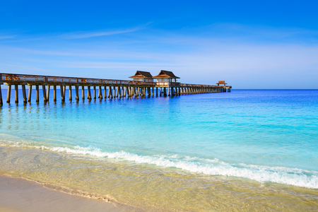 Photo for Naples Pier and beach in florida USA sunny day - Royalty Free Image