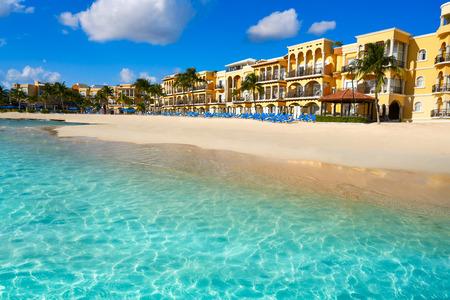 Foto de Playa del Carmen beach in Riviera Maya Caribbean at Mayan Mexico - Imagen libre de derechos