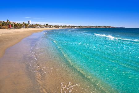 Foto de Platja Prat d'En Fores beach in Cambrils Tarragona at Costa Dorada of Catalonia - Imagen libre de derechos