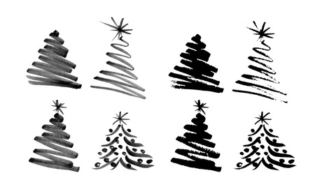 Illustration for Hand sketch Christmas tree illustration - Royalty Free Image