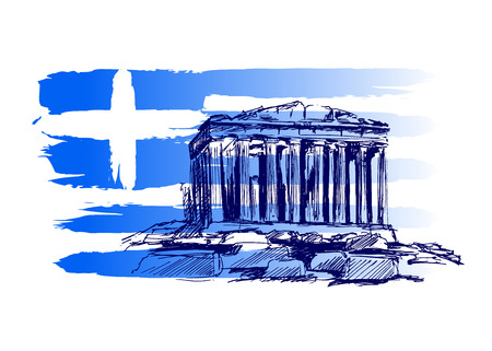 Illustration for Vector background with the motif of Greece - Royalty Free Image