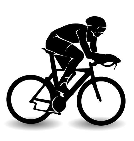 Illustrazione per vector silhouette of a cyclist - Immagini Royalty Free