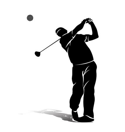 Ilustración de vector silhouette of a golfer - Imagen libre de derechos