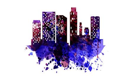 Illustration pour Silhouette of the city vector. - image libre de droit