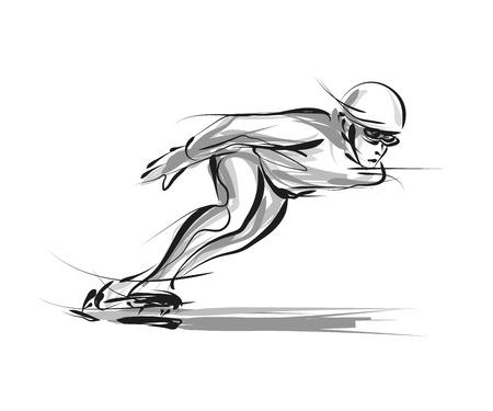 Ilustración de Skater sketch illustration. - Imagen libre de derechos
