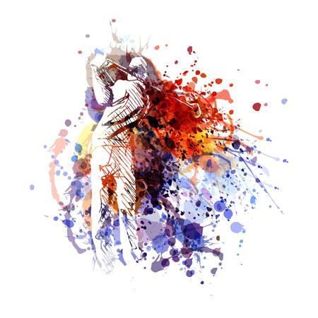 Ilustración de Vector color illustration of a golfer  - Imagen libre de derechos