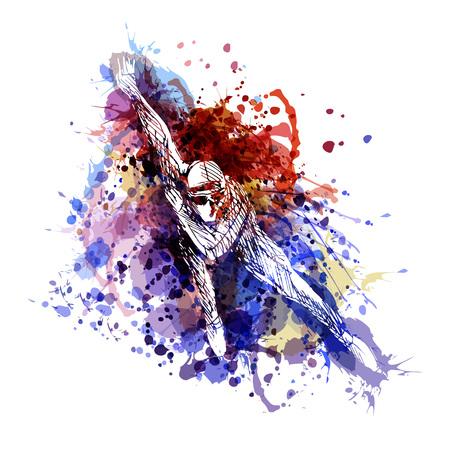 Ilustración de A Vector color illustration of a skater - Imagen libre de derechos