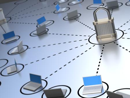 Photo pour Secure Network - image libre de droit