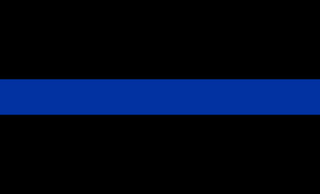 Photo for thin blue line flag law enforcement symbol - Royalty Free Image