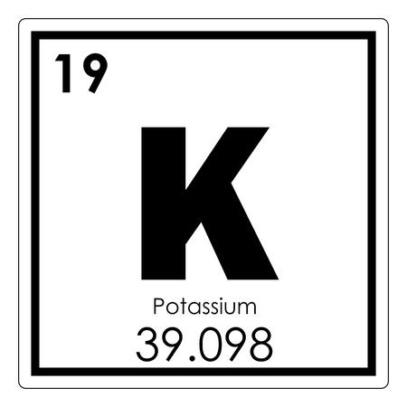 Photo pour Potassium chemical element periodic table science symbol - image libre de droit