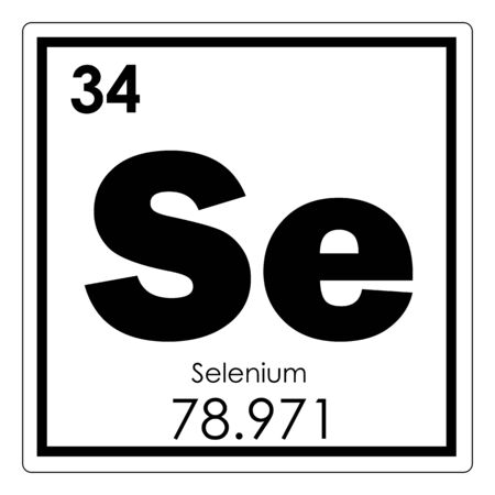 Photo pour Selenium chemical element periodic table science symbol - image libre de droit