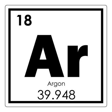 Photo pour Argon chemical element periodic table science symbol - image libre de droit