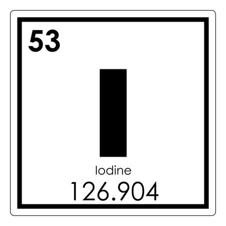 Photo pour Iodine chemical element periodic table science symbol - image libre de droit