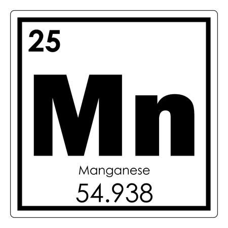 Photo pour Manganese chemical element periodic table science symbol - image libre de droit