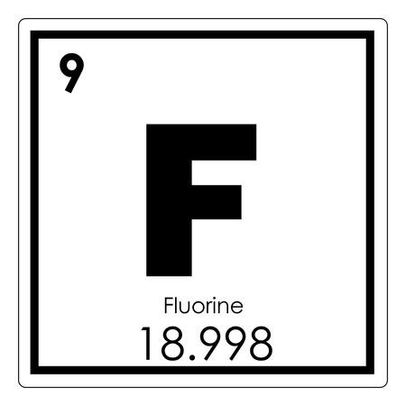 Photo pour Fluorine chemical element periodic table science symbol - image libre de droit