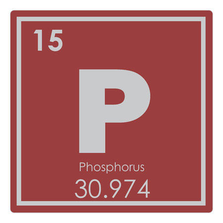 Photo for Phosphorus chemical element periodic table science symbol - Royalty Free Image