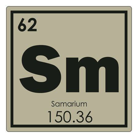 Foto de Samarium chemical element periodic table science symbol - Imagen libre de derechos