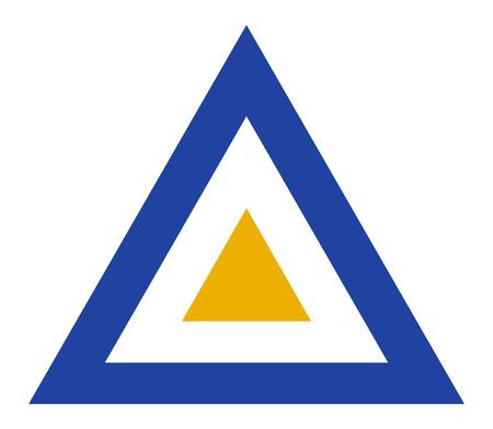 Foto de Myanmar country roundel flag based triangle symbol - Imagen libre de derechos