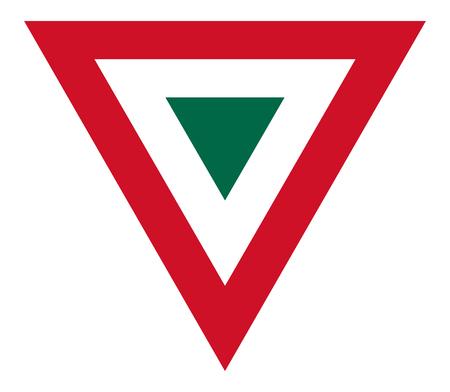 Foto de Mexico country roundel flag based triangle symbol - Imagen libre de derechos